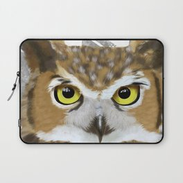 Great Horned Owl & Poly Thoughts Laptop Sleeve