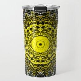 Yellow black design Travel Mug
