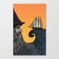 wizard Canvas Prints featuring Wizard by Brittany Rae