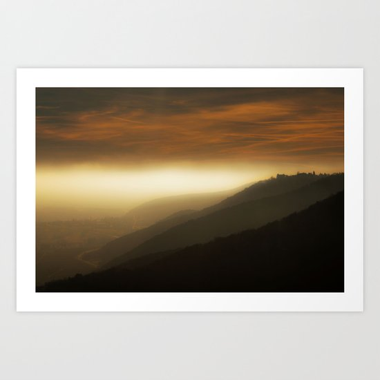 Mystical mountains Art Print