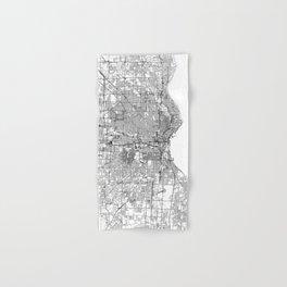Milwaukee White Map Hand & Bath Towel
