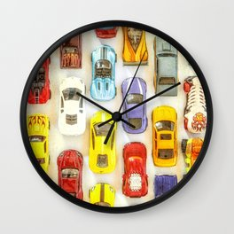 Vintage Toy Cars Wall Clock