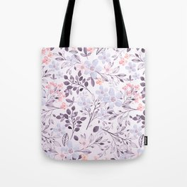 Hand painted modern pink lavender watercolor floral Tote Bag