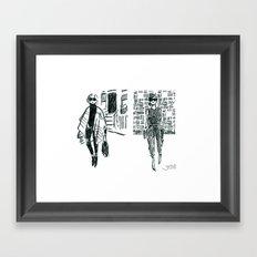 Brush Pen Fashion Illustration - East Coast West Coast Framed Art Print