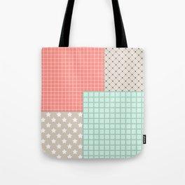 Retro patchwork Tote Bag