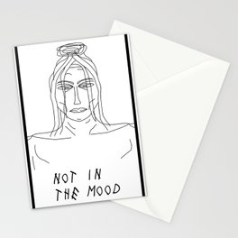Not in the mood Stationery Cards