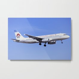 America West Airlines Airbus A-320 Metal Print