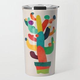 Whimsical Cactus Travel Mug