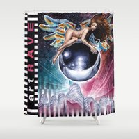 artrave Shower Curtains featuring artRAVE by Denda Reloaded