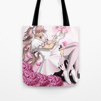 madoka Tote Bags featuring Ultimate Madoka by BlacQueen