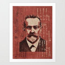 ROGUES GALLERY / Alphonse Bertillon (1853-1914) - Criminologist, France Art Print