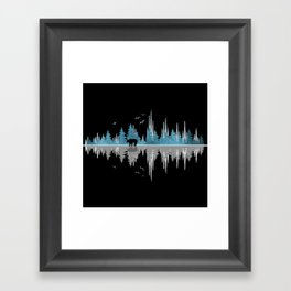 The Sounds Of Nature - Music Sound Wave Framed Art Print