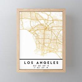 LOS ANGELES CALIFORNIA CITY STREET MAP ART Framed Mini Art Print