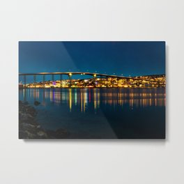 Bridge of Tromso Metal Print
