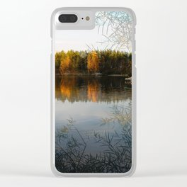 Boats by the Lake in October Clear iPhone Case
