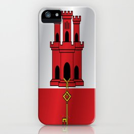 Flag of Gibraltar iPhone Case