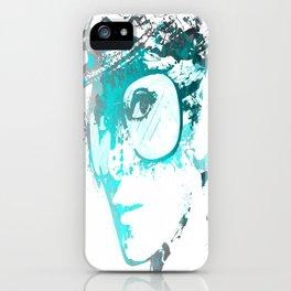 Audrey splash Cool Blue iPhone Case