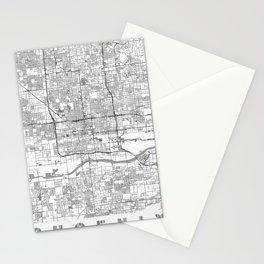 Phoenix City Map Line Stationery Cards