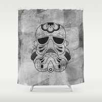storm trooper Shower Curtains featuring Storm Trooper #1 by vrdgrs