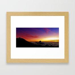 Shadows on the summit Framed Art Print