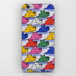 Hippos pattern no2 iPhone Skin