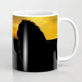 Lion dog sunset Coffee Mug