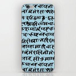 Sanskrit // Light Blue iPhone Skin