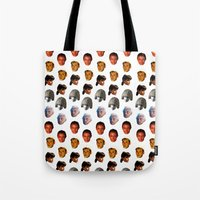 blade runner Tote Bags featuring BLADE RUNNER by brucetimms