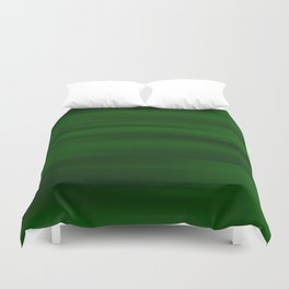 Emerald Green and Black Abstract Duvet Cover