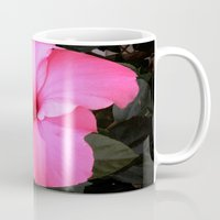 hot pink Mugs featuring Hot pink by Dyneli