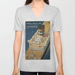 Vintage poster - Cruise ship Unisex V-Neck
