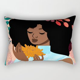 Chrysanthemums in November Rectangular Pillow