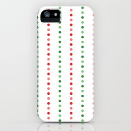 Holiday Hexies Multi Stripe iPhone Case