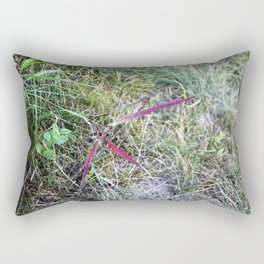 Spark of Colour in the Green Rectangular Pillow