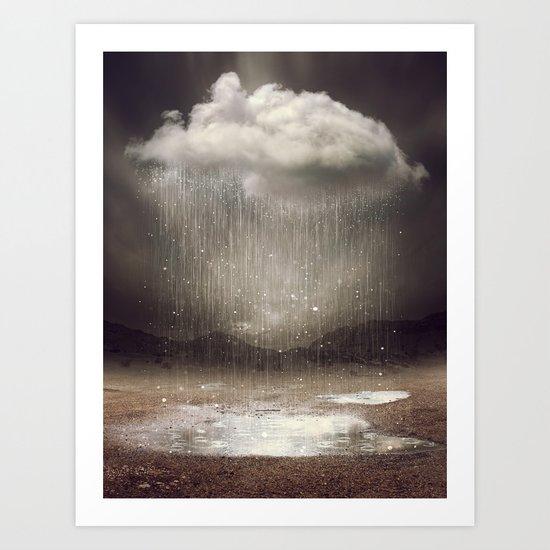 It's Okay. Even the Sky Cries Sometimes. Art Print