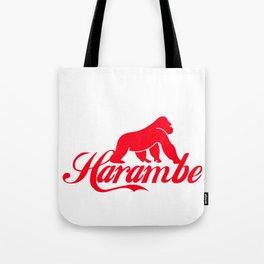 harambe the caring gorilla Tote Bag