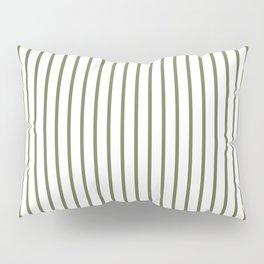Wheelbarrow Grey Pinstripe on White Pillow Sham