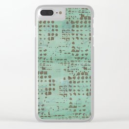 Moss Print Clear iPhone Case