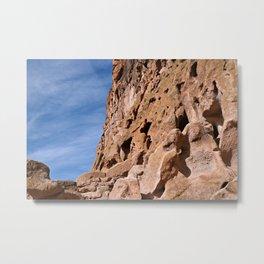 Rocky Cliffs at Bandelier National Monument Metal Print