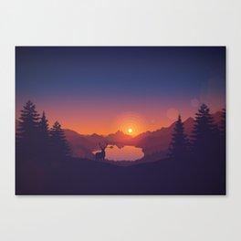 Lakeside Sunset Canvas Print