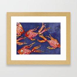 Goldfish batik Framed Art Print