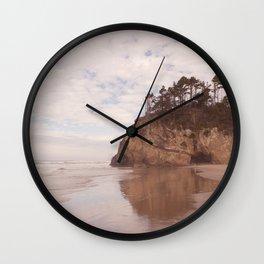 Oregon Coast - Hug point Wall Clock