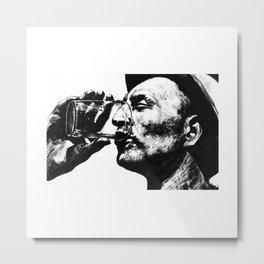 Heat - Man With Drink Metal Print