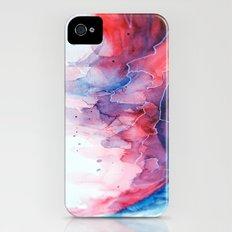 Watercolor magenta & cyan, abstract texture iPhone (4, 4s) Slim Case