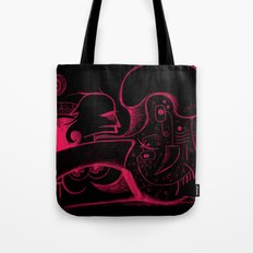 Human body in magenta Tote Bag