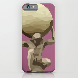 Man with Big Ball Illustration pink iPhone Case