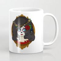 dia de los muertos Mugs featuring Dia de Los Muertos by Lilolilosa