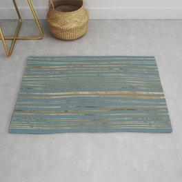Blueprint and Golden Stripes Rug