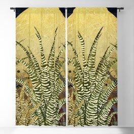 """Golden aloe Zebra midnight sun"" Blackout Curtain"
