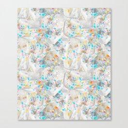 Abstract White Quartz in Rainbow Aura Canvas Print